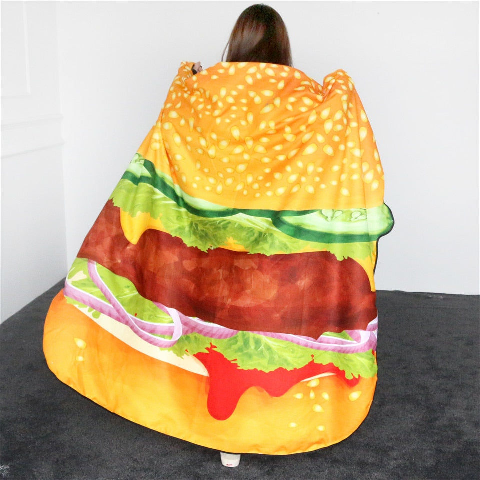 Hamburger Shaped Irregular Beach Towel - eCasaMart