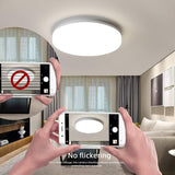 Aourow LED Round Ceiling Light, Aourow 18W 1800LM Ceiling Lamp,IP54 Waterproof,Ideal for Bedroom,Living Room,Bathroom,Balcony,Dining Room,Corridor,Office,Kitchen,Natural White 4000K,Ø22CM