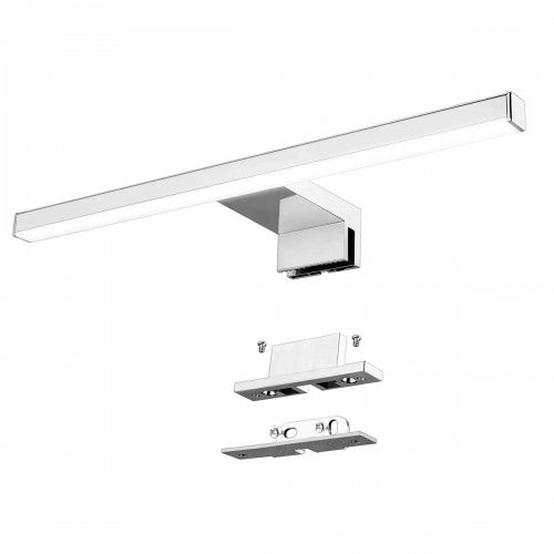 Aourow Led Mirror Light Bathroom 10W 820LM 60cm 230V 4000K,Stainless Steel 3-in-1 IP44 Class II Slim 300mm Bath Mirror Lamp,No Flicker, Mirror Front/Cabinet/Wall Lighting Neutral White 600mm