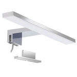 Aourow Led Mirror Light Bathroom 10W 820LM 40cm 230V 4000K,Stainless Steel 3-in-1 IP44 Class II Slim 400mm Bath Mirror Lamp,No Flicker, Mirror Front/Wall Lighting Neutral White 400mm