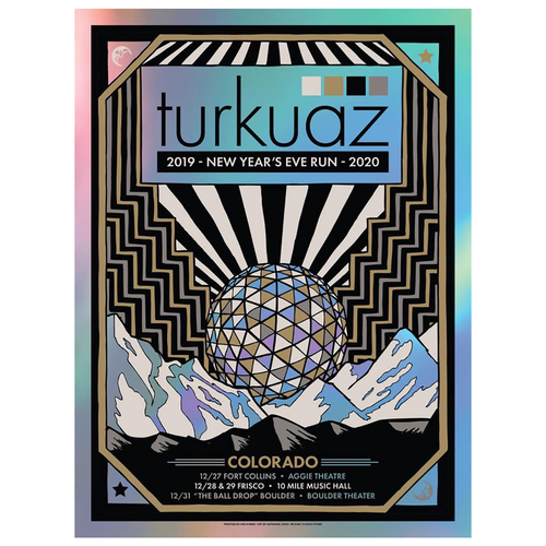 Turkuaz - 2019 NYE Run 2020 Poster (SIGNED)