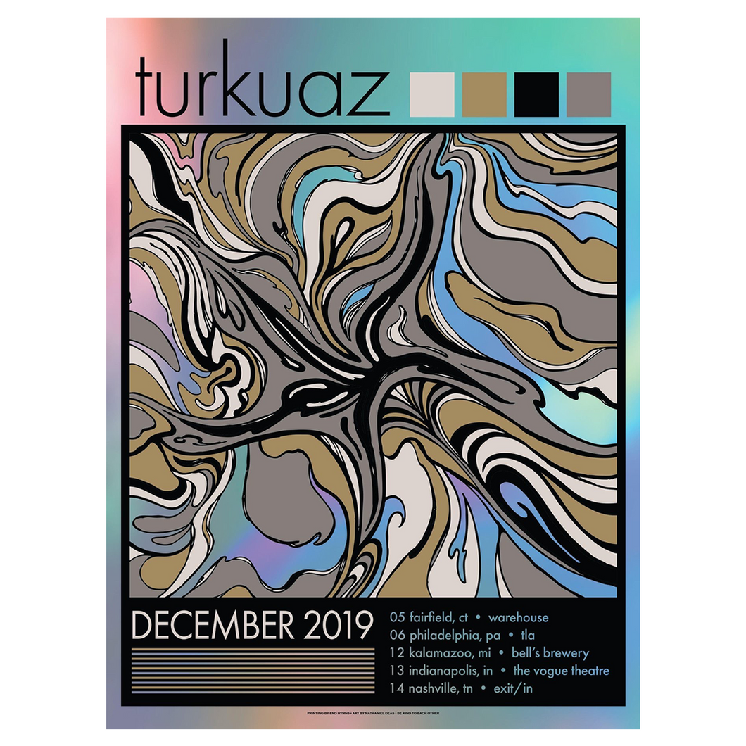 Turkuaz - December 2019 Run Poster (SIGNED)