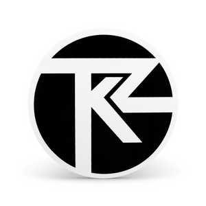 Turkuaz - Black and White TKZ Sticker