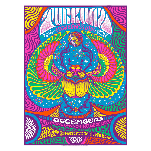 Turkuaz - NYE '18 Black Light Activated Ink Poster