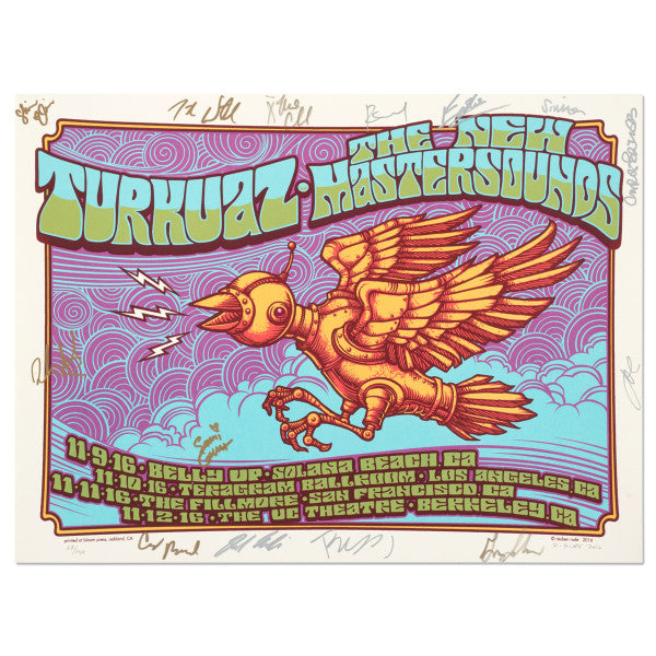 Turkuaz - Autographed California Fall 2016 Poster