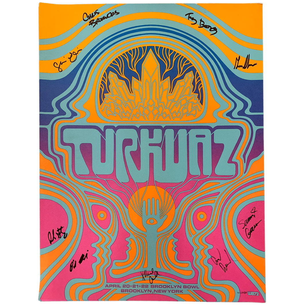 Turkuaz - Autographed Brooklyn Bowl Poster