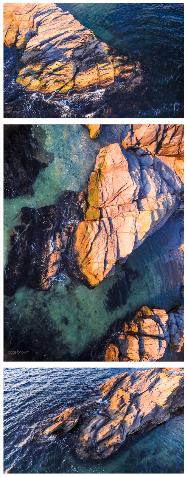 Aerial Explorations // Jamestown Coast at Sunset