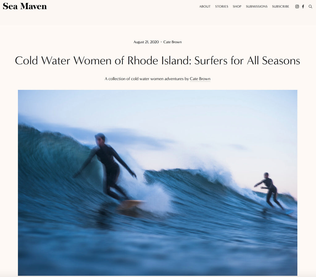 Cate Brown cold water women surf photography Sea Maven Magazine