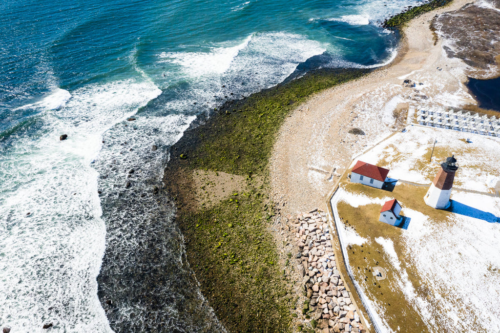 Cate Brown Fine Art Ocean Photography Coastal Lighthouse Drone Aerial