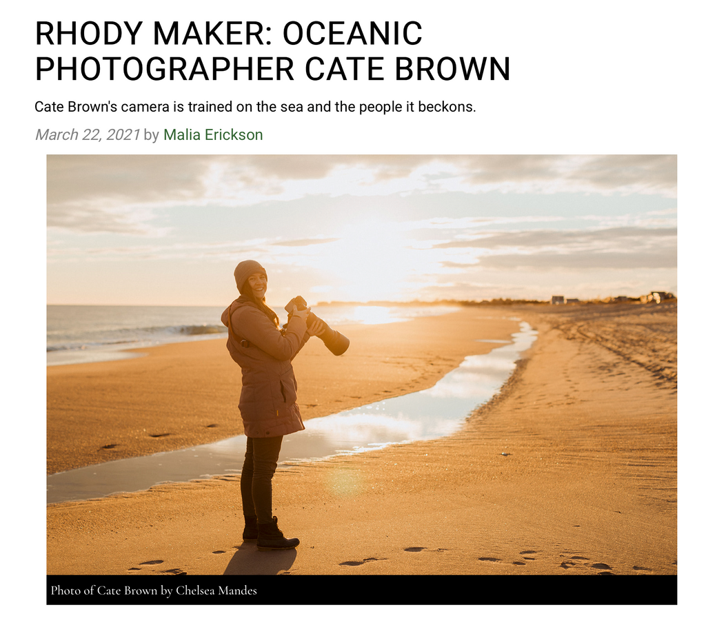 Rhode Island Monthly Rhody Maker Cate Brown Feature Interview