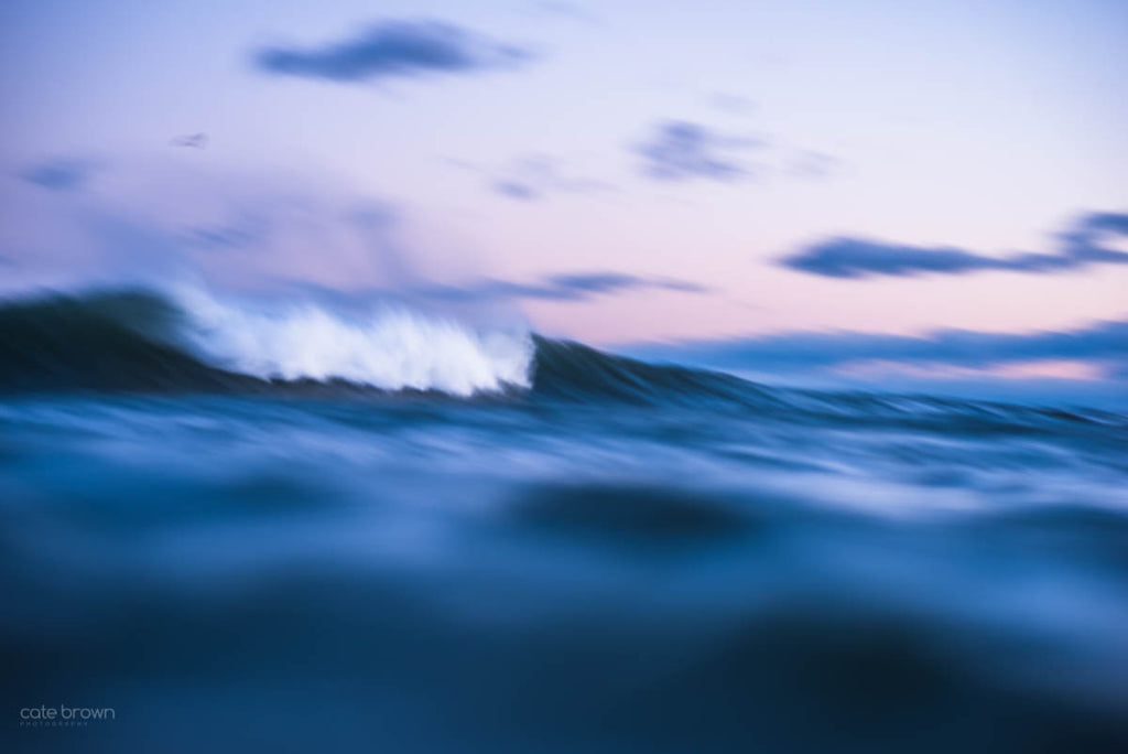 Cate Brown Fine Art Ocean Photography Sunset Wave Rhode Island New England