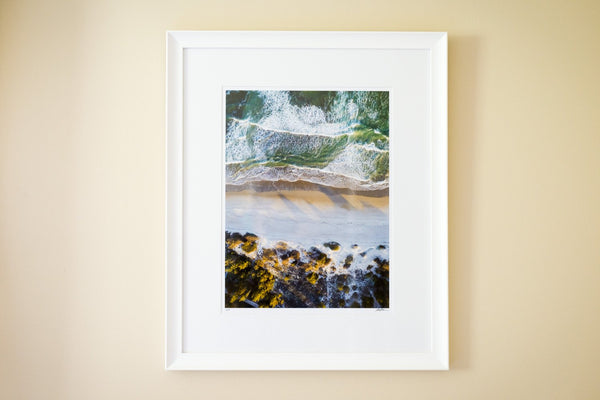 "Cate Brown Photo Narragansett Aerial #1 // Framed Fine Art 20x26"" // Limited Edition 1 of 150 Available Inventory Ocean Fine Art"