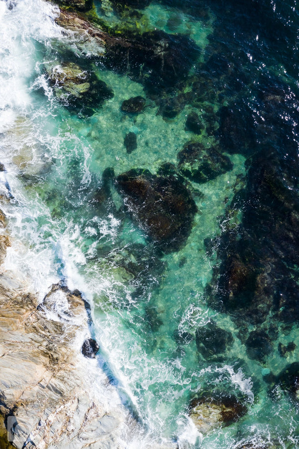 Cate Brown Photo Beavertail #10  //  Aerial Photography Made to Order Ocean Fine Art