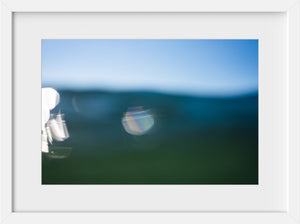 Cate Brown Photo Bokeh Blue #3  //  Abstract Photography Made to Order Ocean Fine Art