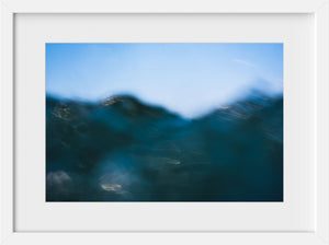 Cate Brown Photo Bokeh Blue #4  //  Abstract Photography Made to Order Ocean Fine Art