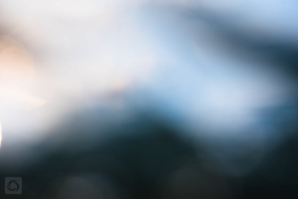 Bokeh Blue #5  //  Abstract Photography