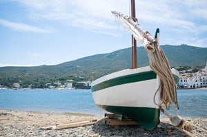 Beached Boat  //  Nautical Photography
