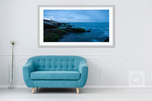 Cate Brown Photo Beavertail Panoramic 4  //  Landscape Photography Made to Order Ocean Fine Art