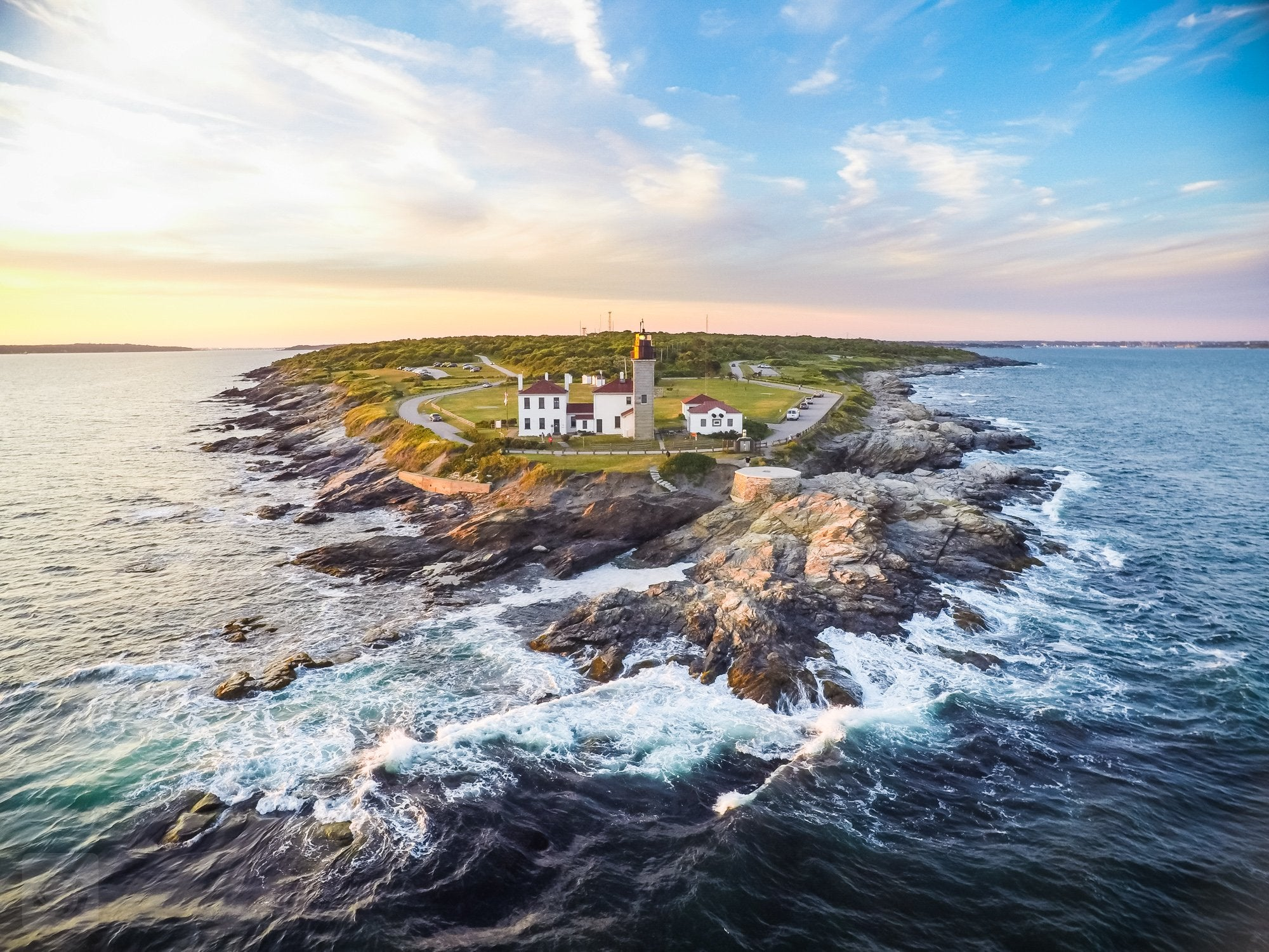 Cate Brown Photo Beavertail #3  //  Aerial Photography Made to Order Ocean Fine Art