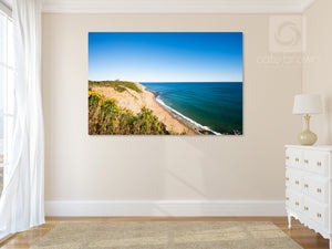 Cate Brown Photo Southeast Light from the Bluffs  //  Landscape Photography Made to Order Ocean Fine Art