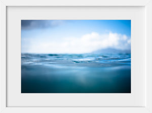 Cate Brown Photo Blue Silk  //  Ocean Photography Made to Order Ocean Fine Art