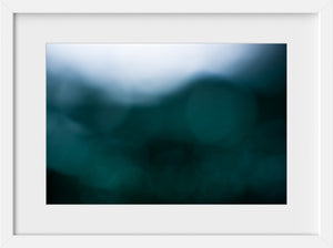 Cate Brown Photo Bokeh Blue #11  //  Abstract Photography Made to Order Ocean Fine Art