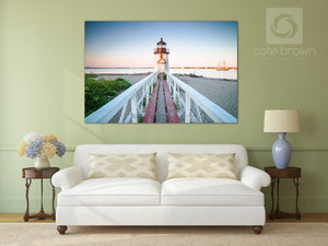 Cate Brown Photo Brant Point Light at Dusk  //  Landscape Photography Made to Order Ocean Fine Art