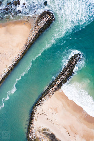Cate Brown Photo Breachway #1  //  Aerial Photography Made to Order Ocean Fine Art