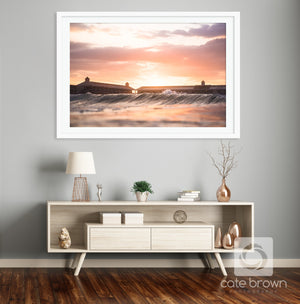 Cabana Sunset  //  Seascape Photography