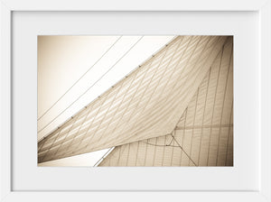 Canvas Sails #2  //  Nautical Photography