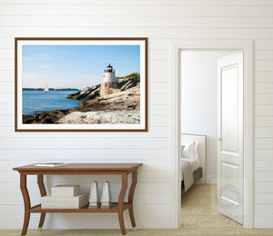 Cate Brown Photo Castle Hill Light in Sun  //  Landscape Photography Made to Order Ocean Fine Art