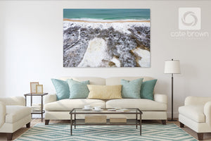 "Cate Brown Photo Canvas / 20""x30"" / None (Print Only) Snow & Sea #1  //  Aerial Photography Made to Order Ocean Fine Art"