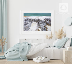 "Cate Brown Photo Fine Art Print / 8""x12"" / White Snow & Sea #1  //  Aerial Photography Made to Order Ocean Fine Art"