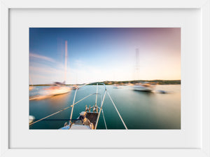 Cate Brown Photo Dusk in Cuttyhunk Harbor  //  Nautical Photography Made to Order Ocean Fine Art