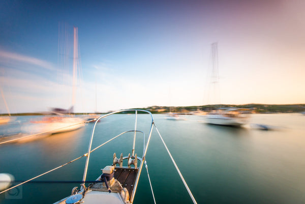 Dusk in Cuttyhunk Harbor  //  Nautical Photography