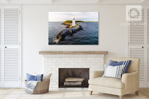 Cate Brown Photo Dutch Island Light #2  //  Aerial Photography Made to Order Ocean Fine Art