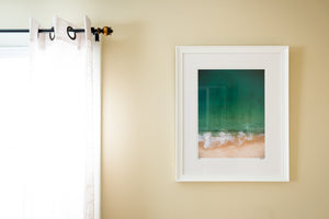 "Cate Brown Photo East Beach Aerial #3 // Framed Fine Art 20x26"" // Limited Edition 2 of 150 Available Inventory Ocean Fine Art"