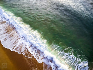 Cate Brown Photo East Beach #12  //  Aerial Photography Made to Order Ocean Fine Art