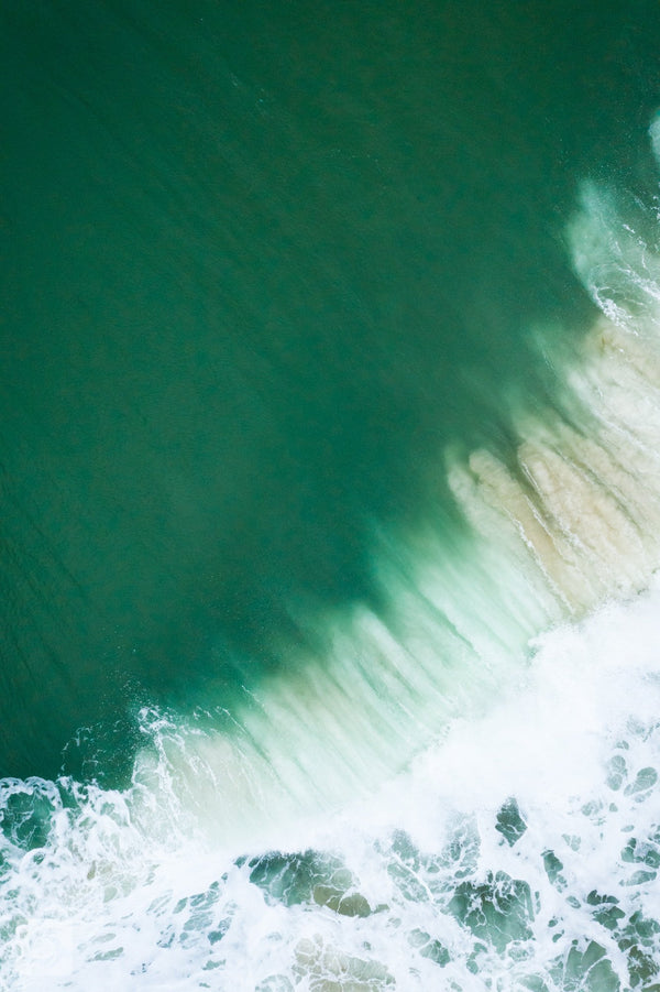 Cate Brown Photo East Beach #17  //  Aerial Photography Made to Order Ocean Fine Art