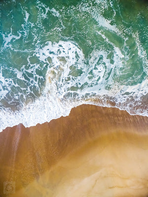 Cate Brown Photo East Beach #10  //  Aerial Photography Made to Order Ocean Fine Art
