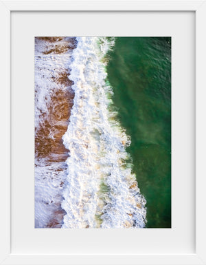 Cate Brown Photo East Beach #11  //  Aerial Photography Made to Order Ocean Fine Art