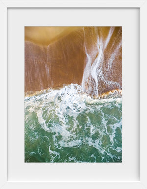Cate Brown Photo East Beach #9  //  Aerial Photography Made to Order Ocean Fine Art