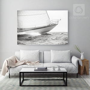Cate Brown Photo Equus Bow in Silver  //  Nautical Photography Made to Order Ocean Fine Art