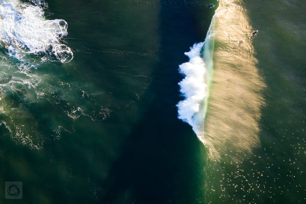 Cate Brown Photo Golden Waves  //  Aerial Photography Made to Order Ocean Fine Art