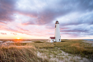 Cate Brown Photo Great Point Light at Sunset #6  //  Landscape Photography Made to Order Ocean Fine Art