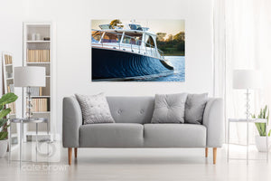 Cate Brown Photo Hemmerdinghy at Sunset  //  Nautical Photography Made to Order Ocean Fine Art