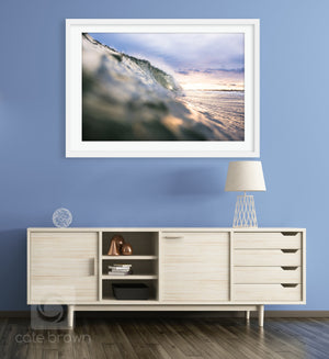 Cate Brown Photo Icy Sunset  //  Ocean Photography Made to Order Ocean Fine Art