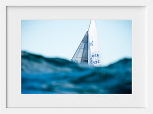 J24 Over the Waves  //  Nautical Photography