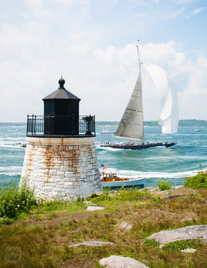 J Class at Castle Hill Light  //  Nautical Photography