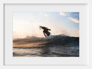 Cate Brown Photo Kaeli Surfing Chris #2  //  Surf Photography Made to Order Ocean Fine Art